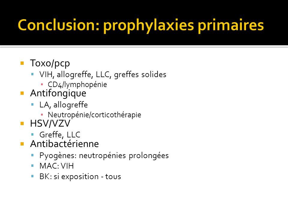 Conclusion: prophylaxies primaires
