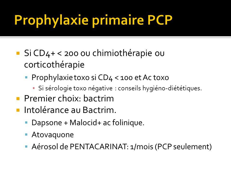 Prophylaxie primaire PCP