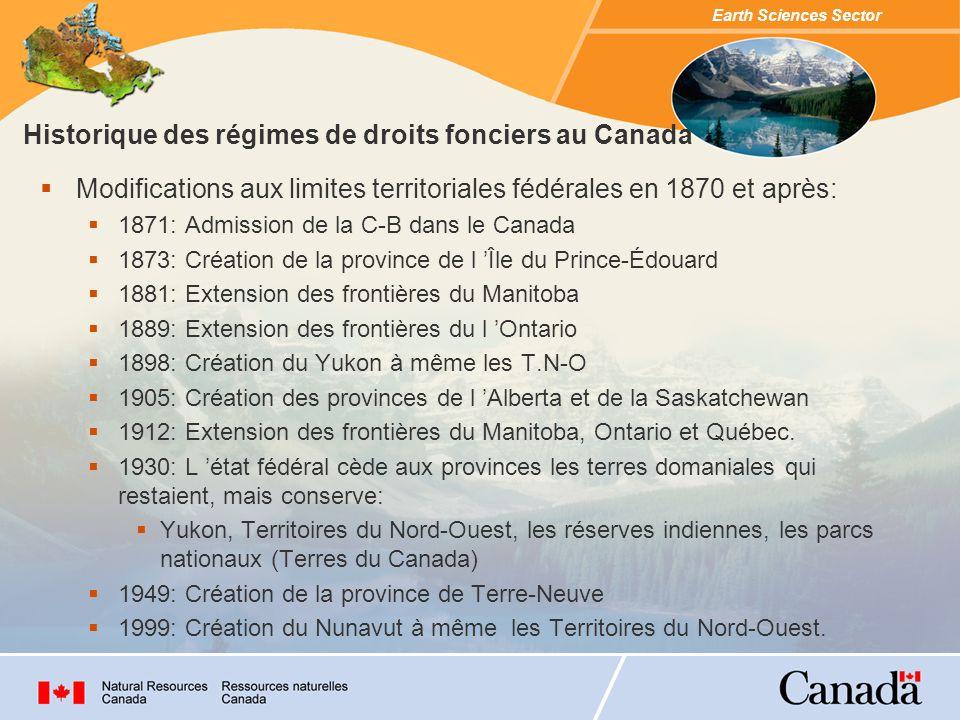 Historique des régimes de droits fonciers au Canada