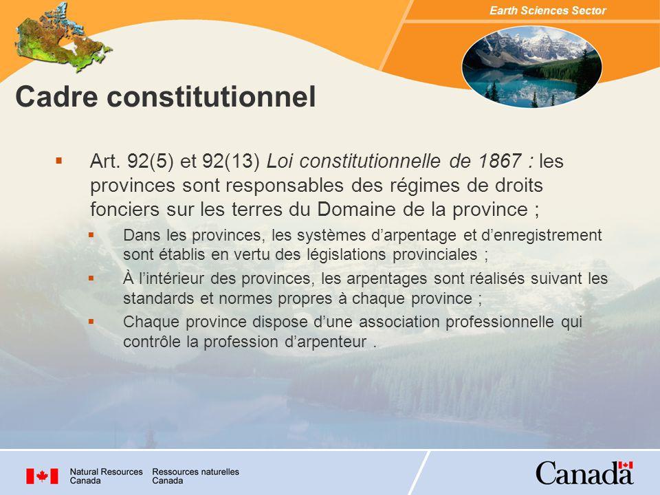 Cadre constitutionnel