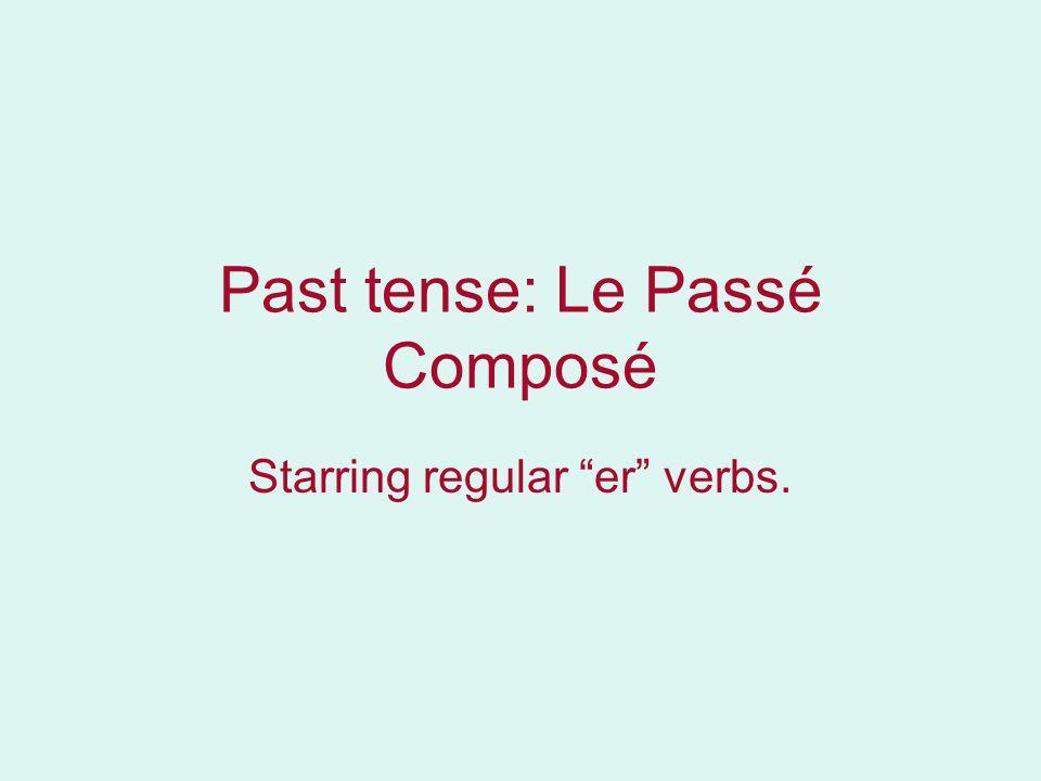 Past tense: Le Passé Composé