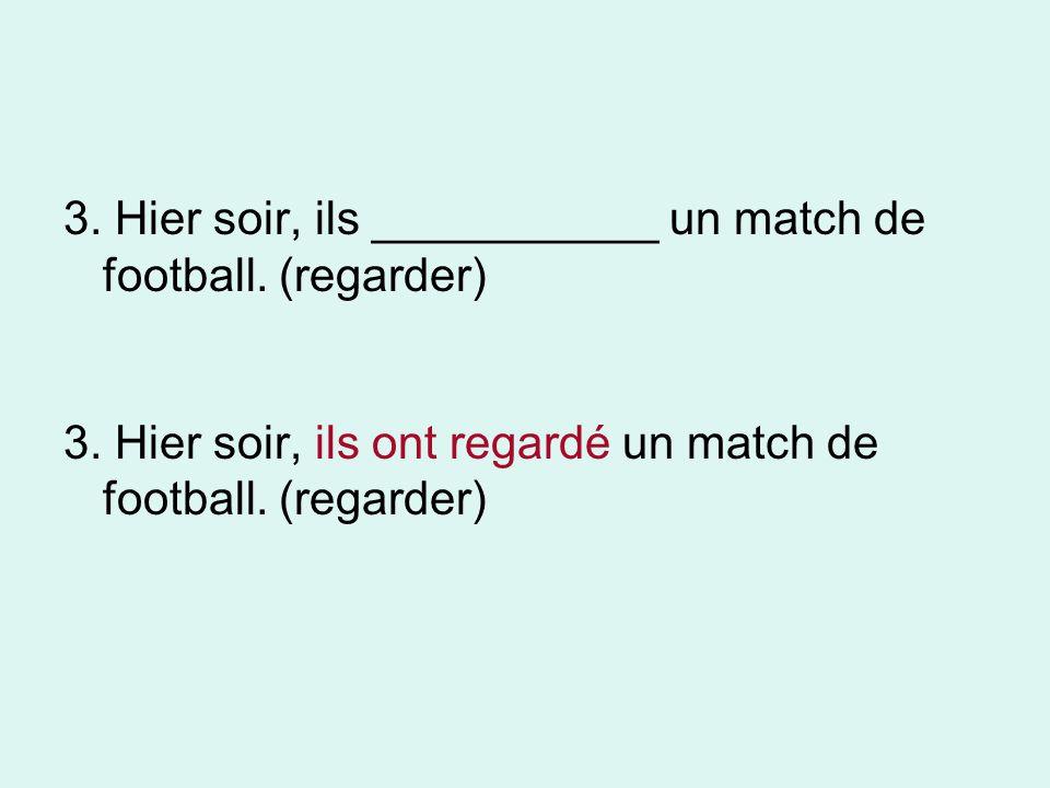 3. Hier soir, ils ___________ un match de football. (regarder)