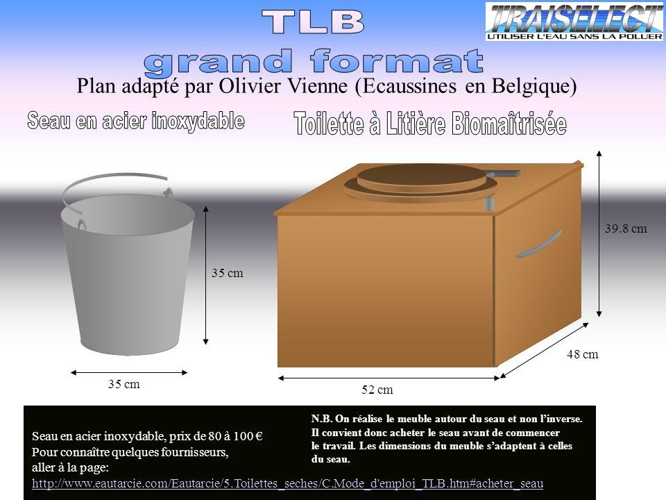 Seau en acier inoxydable Toilette à Litière Biomaîtrisée