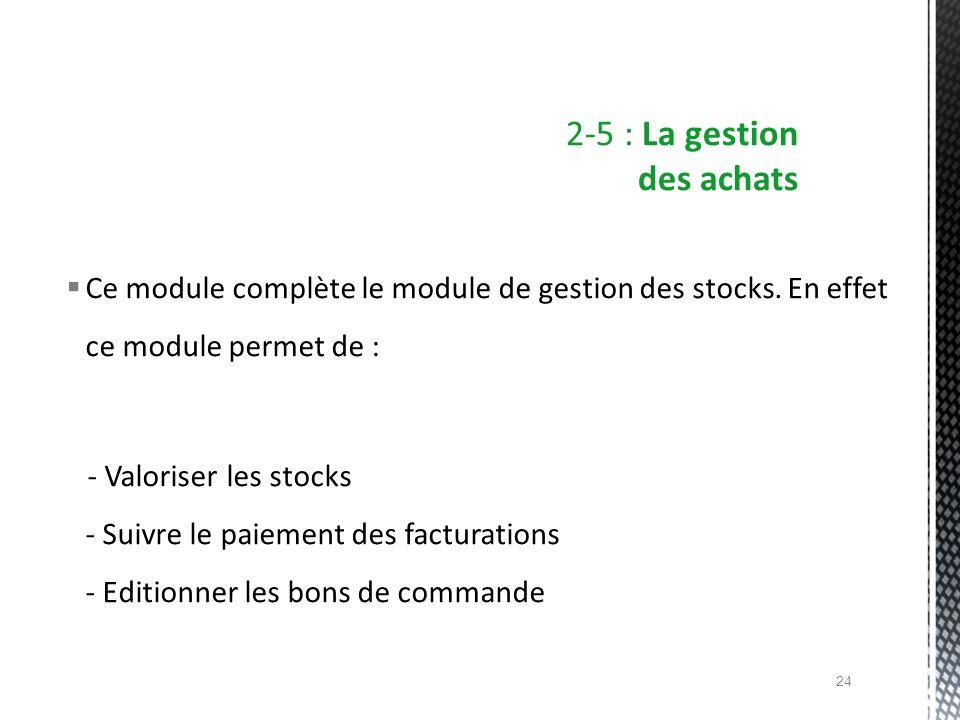 2-5 : La gestion des achats