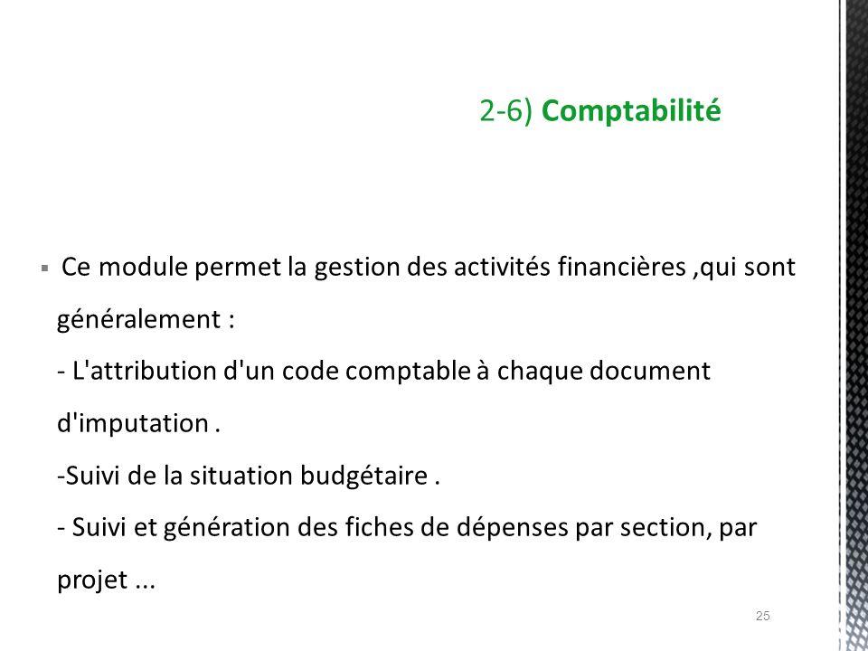 2-6) Comptabilité