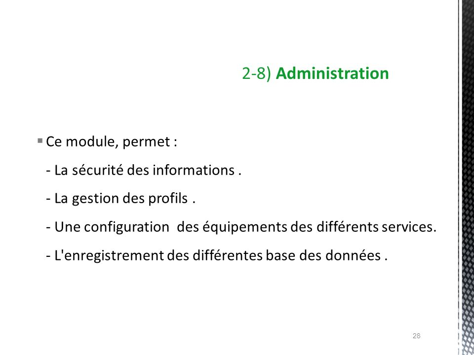 2-8) Administration