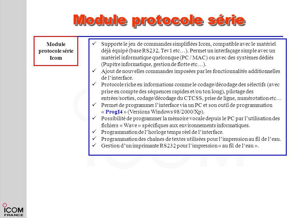 Module protocole série