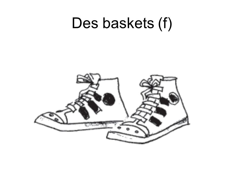 Des baskets (f)