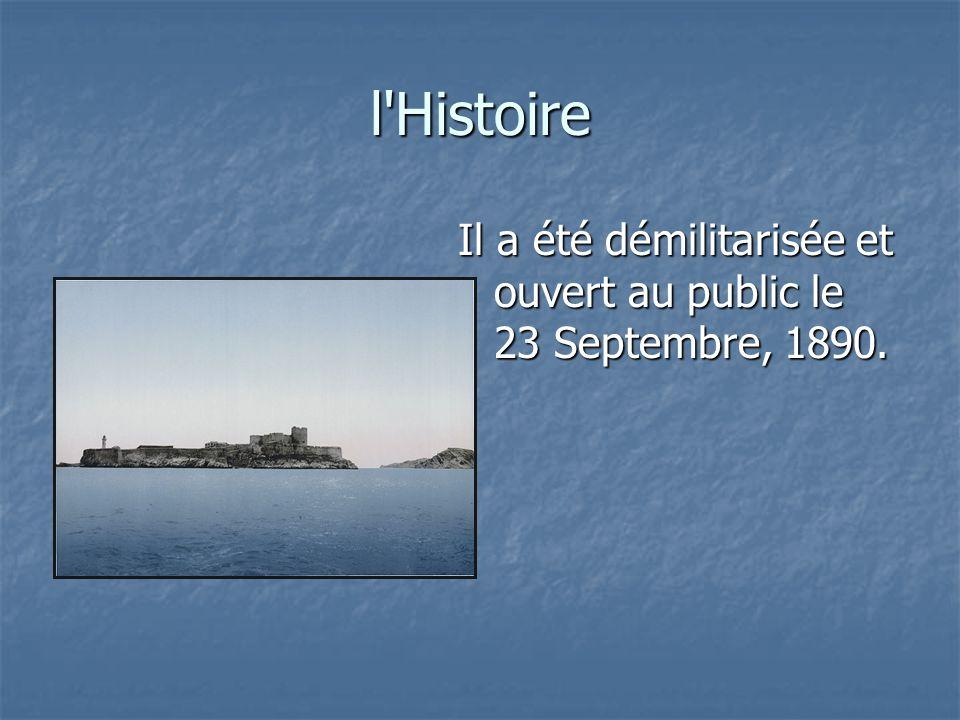 l Histoire Il a été démilitarisée et ouvert au public le 23 Septembre, 1890.