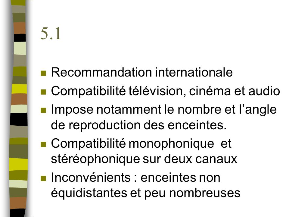 5.1 Recommandation internationale