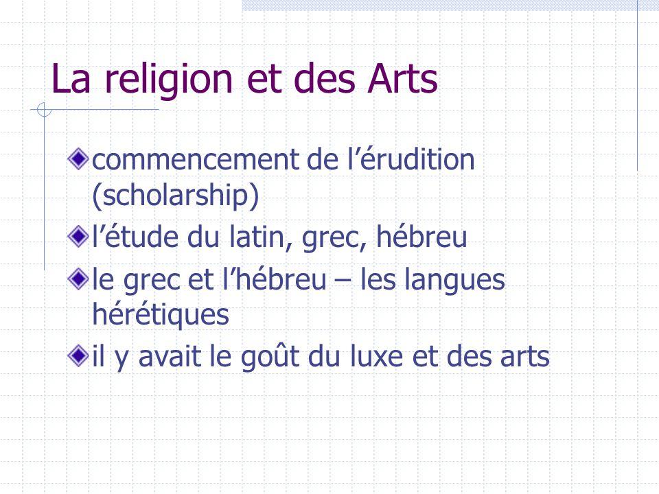 La religion et des Arts commencement de l'érudition (scholarship)