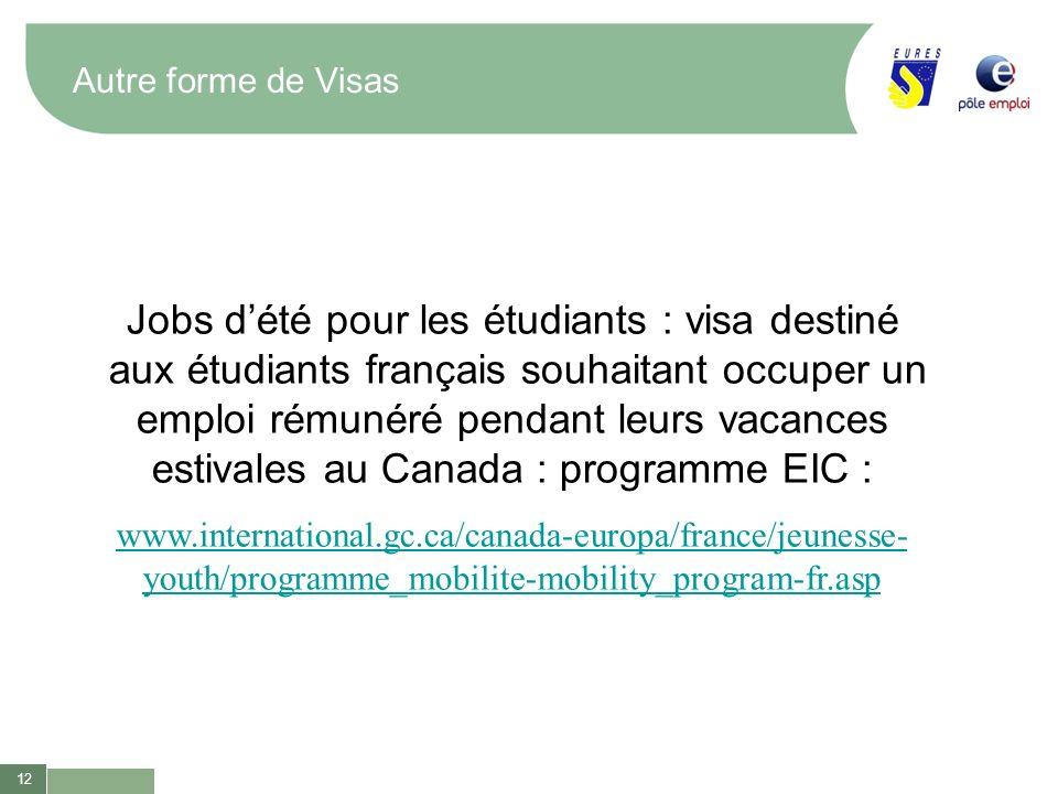 Jobs d'été pour les étudiants : visa destiné
