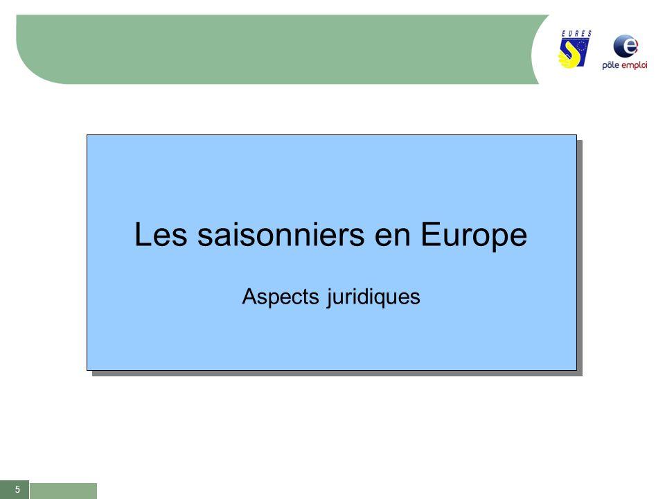 Les saisonniers en Europe
