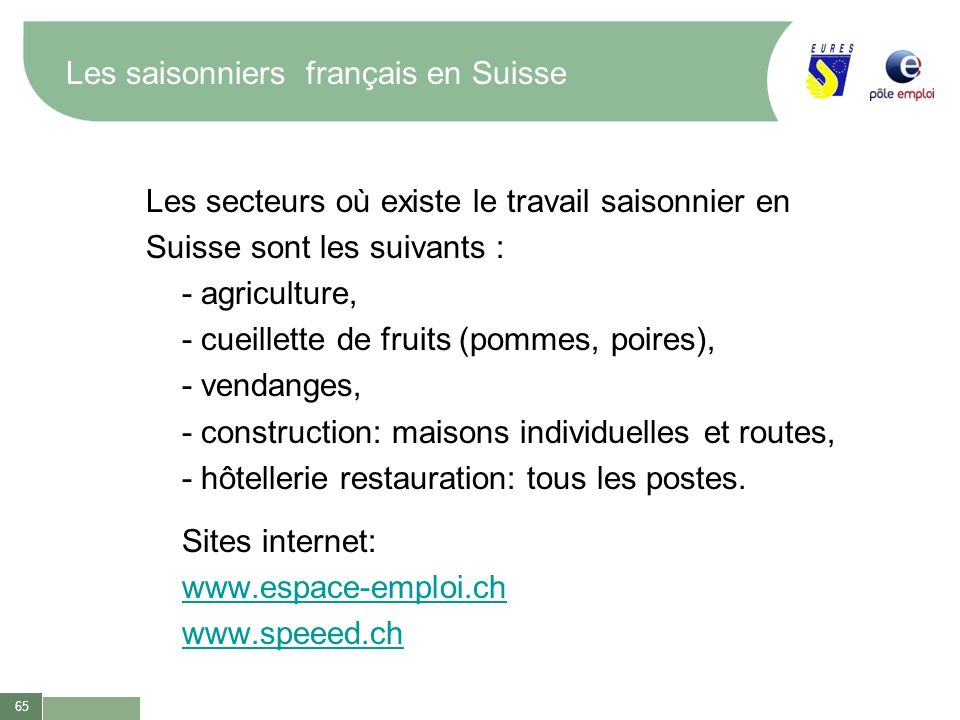 Les saisonniers français en Suisse