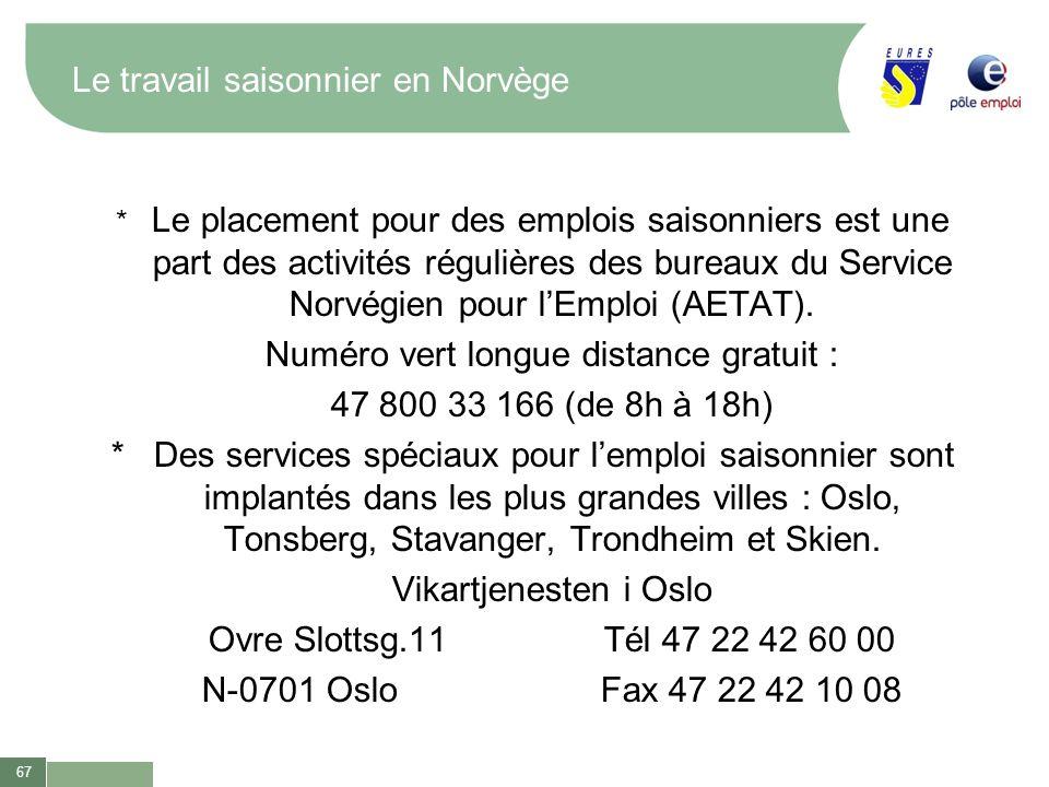 Le travail saisonnier en Norvège