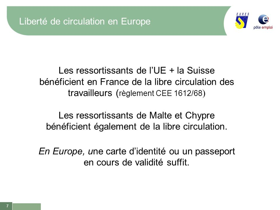 Liberté de circulation en Europe