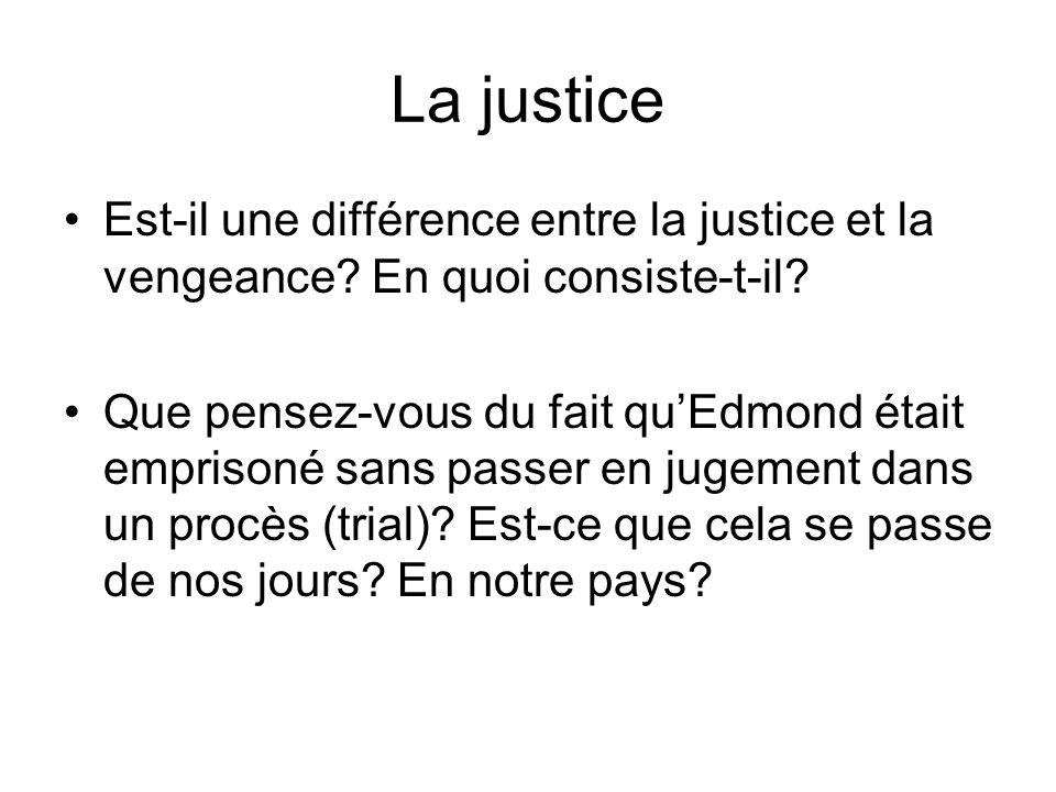 La justice Est-il une différence entre la justice et la vengeance En quoi consiste-t-il