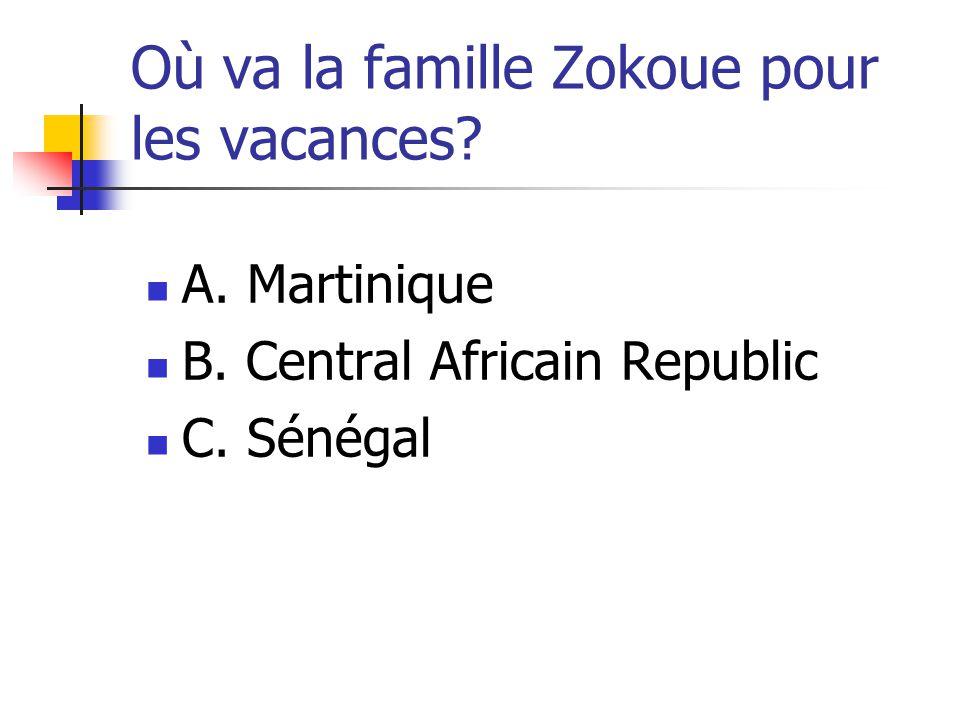 Où va la famille Zokoue pour les vacances