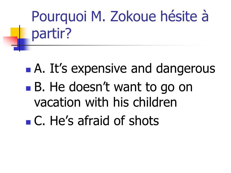 Pourquoi M. Zokoue hésite à partir
