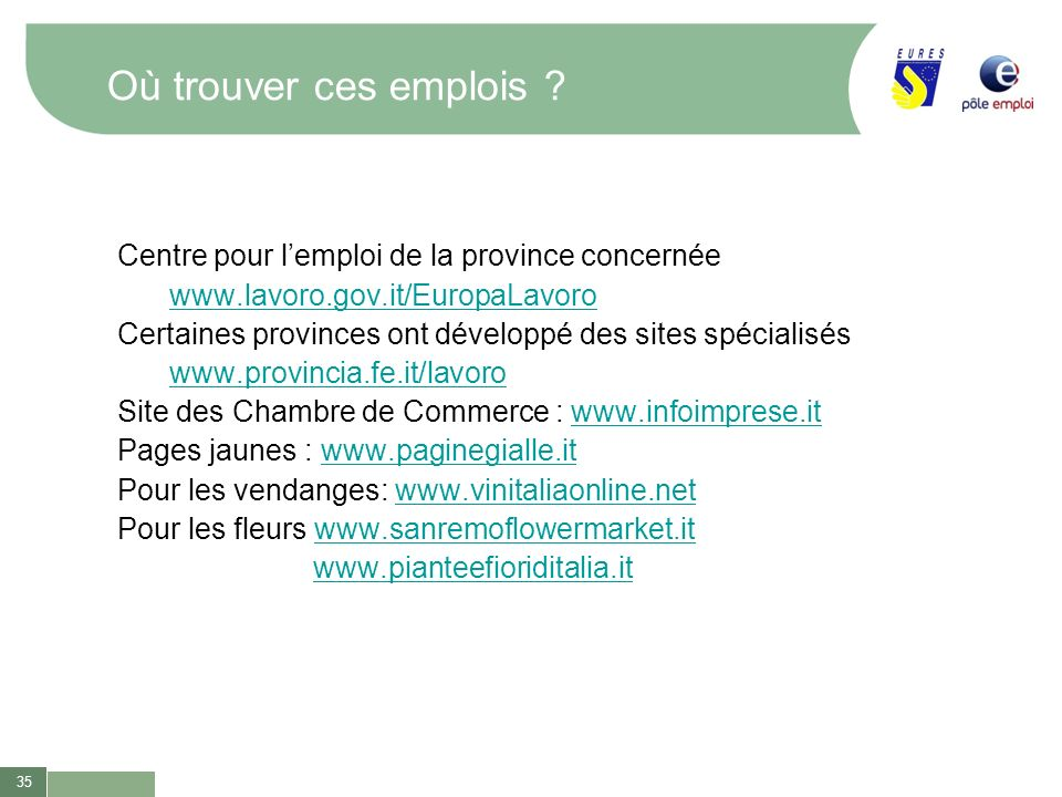 Emploi saisonnier a l etranger ppt t l charger for Chambre de commerce internationale emploi