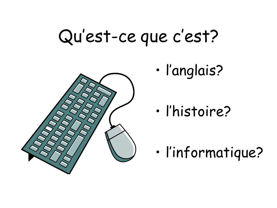 Qu'est-ce que c'est l'anglais l'histoire l'informatique