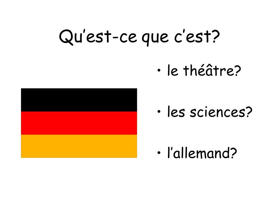 Qu'est-ce que c'est le théâtre les sciences l'allemand