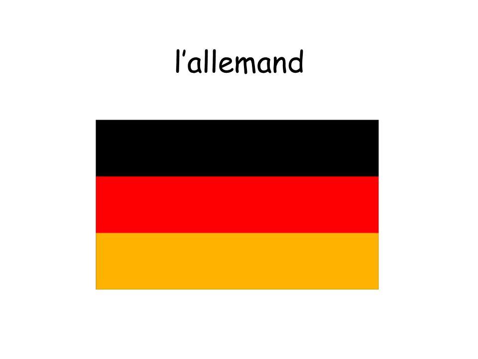 l'allemand
