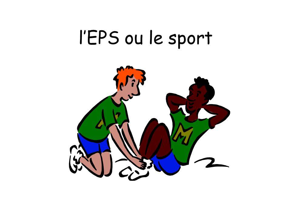 l'EPS ou le sport