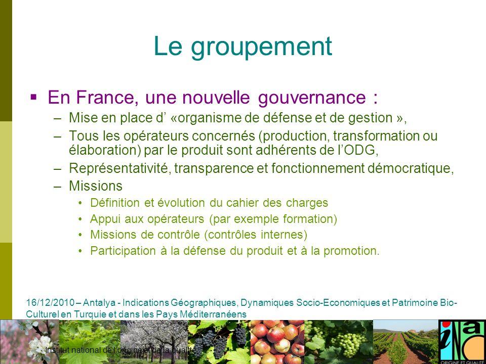 Le groupement En France, une nouvelle gouvernance :