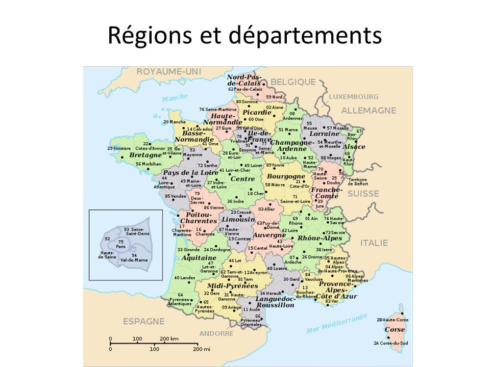 Régions et départements