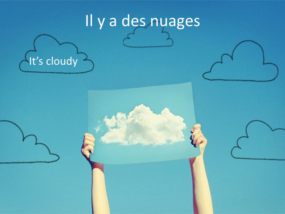 Il y a des nuages It's cloudy