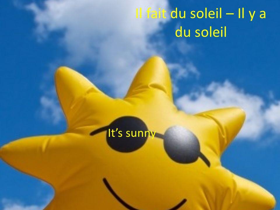 Il fait du soleil – Il y a du soleil