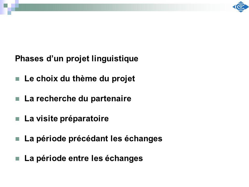 Phases d'un projet linguistique