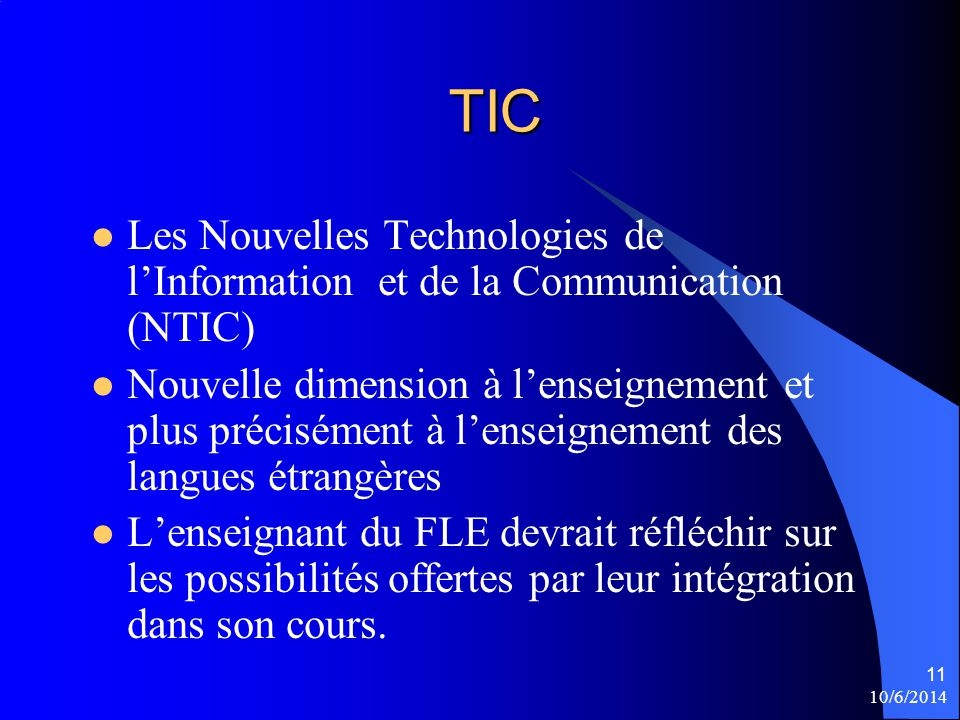 TIC Les Nouvelles Technologies de l'Information et de la Communication (NTIC)