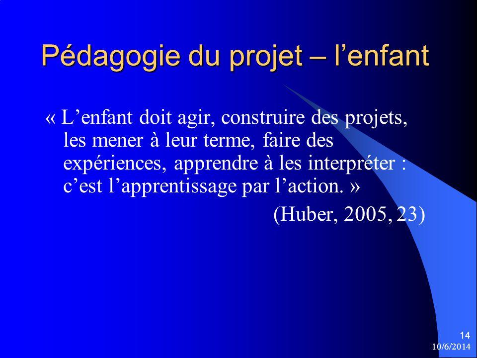 Pédagogie du projet – l'enfant