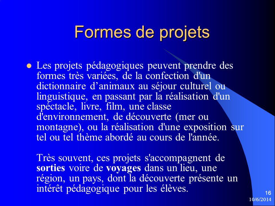 Formes de projets