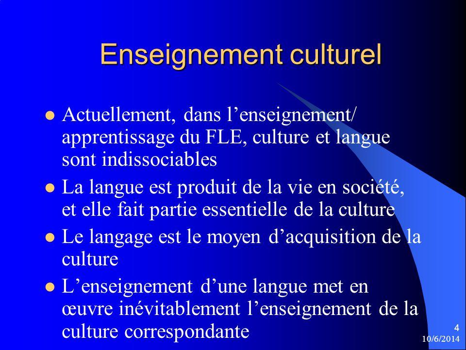 Enseignement culturel