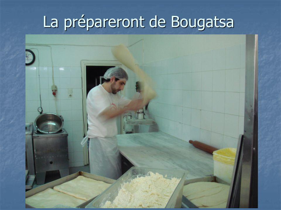 La prépareront de Bougatsa