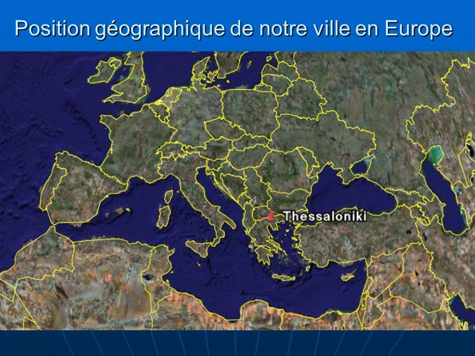 Position géographique de notre ville en Europe