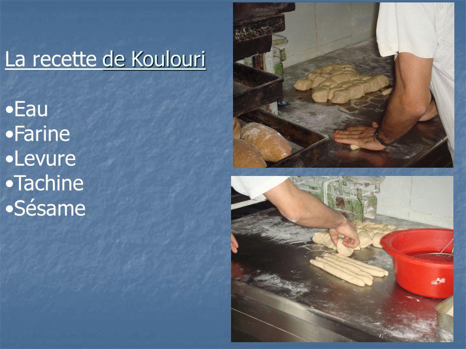 La recette de Koulouri Eau Farine Levure Tachine Sésame