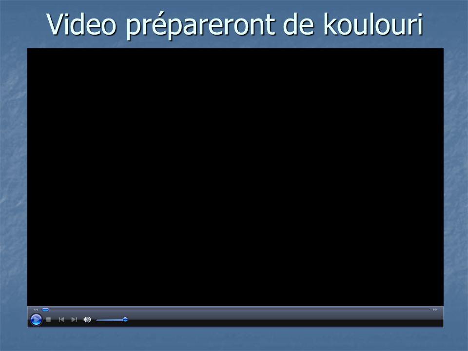 Video prépareront de koulouri