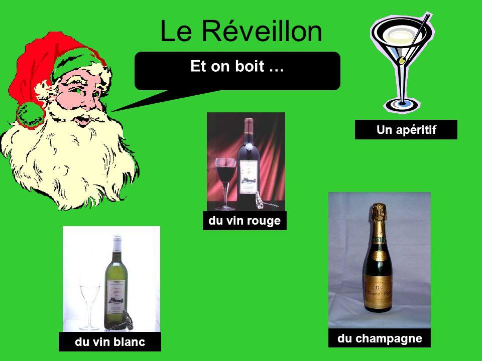 Le Réveillon Et on boit … Un apéritif du vin rouge du champagne