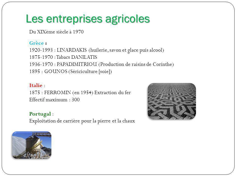 Les entreprises agricoles