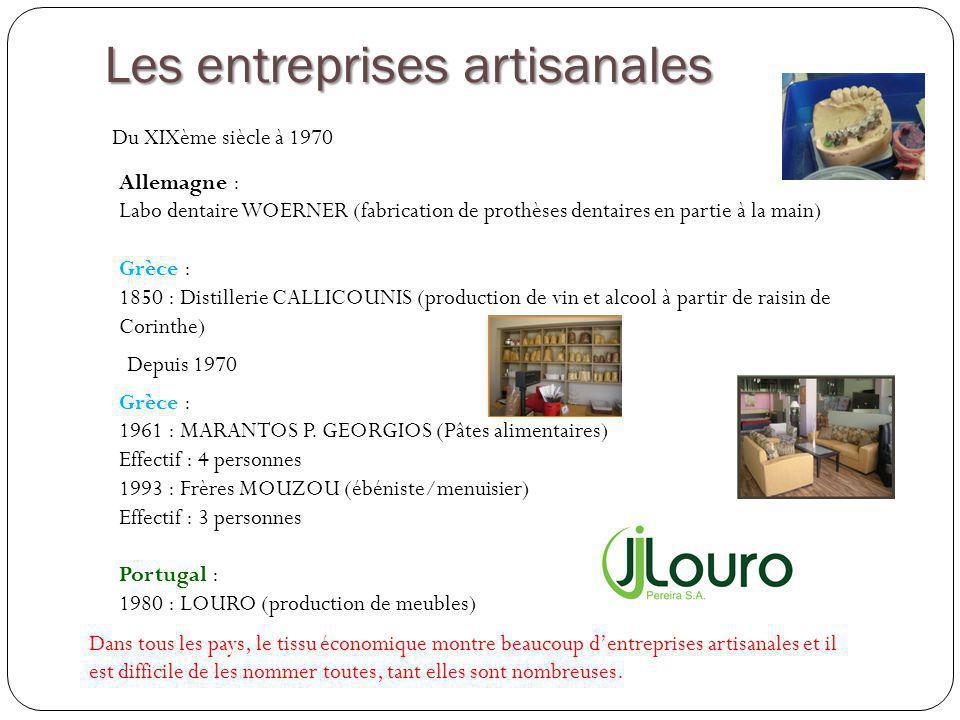 Les entreprises artisanales