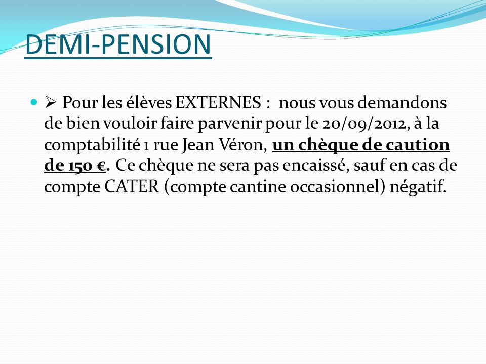 DEMI-PENSION