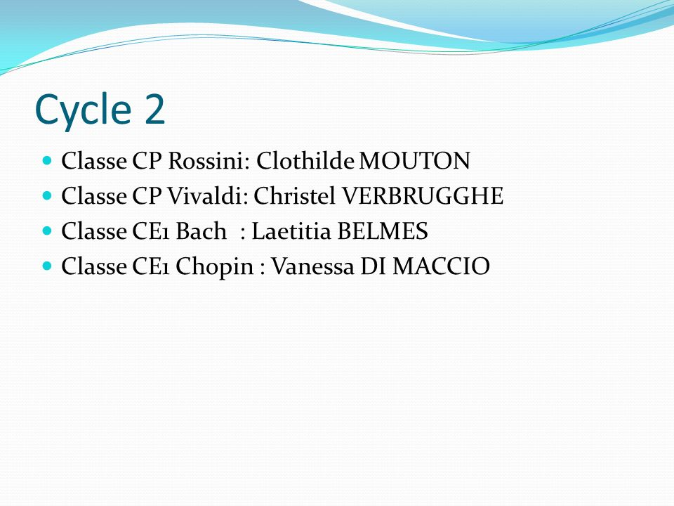 Cycle 2 Classe CP Rossini: Clothilde MOUTON