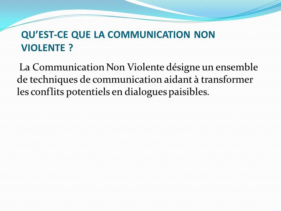 QU'EST-CE QUE LA COMMUNICATION NON VIOLENTE