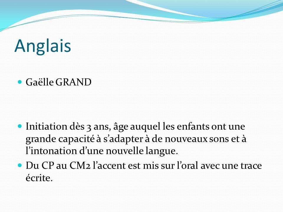Anglais Gaëlle GRAND.