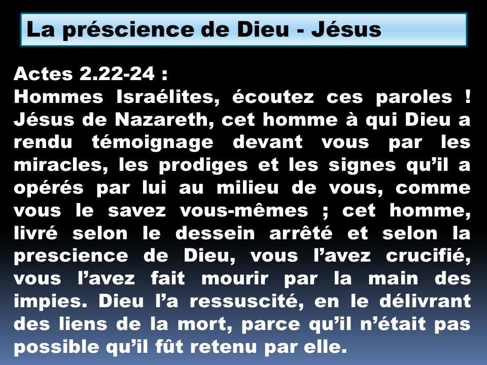 La préscience de Dieu - Jésus