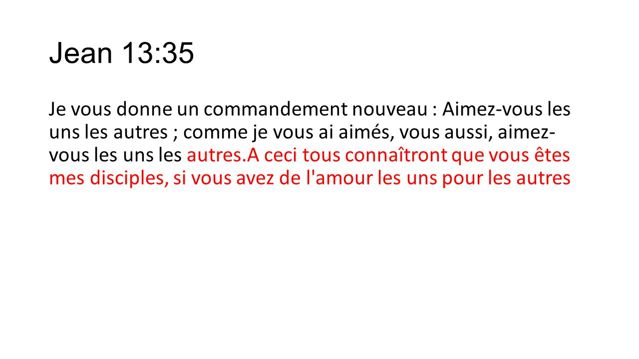 Jean 13:35